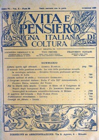 VITA E PENSIERO - 1920 - 12