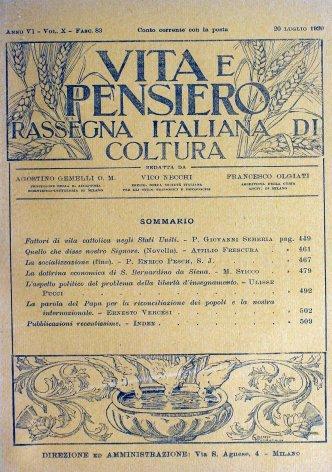 VITA E PENSIERO - 1920 - 7