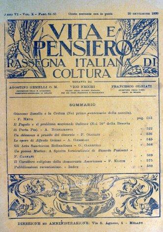 VITA E PENSIERO - 1920 - 9