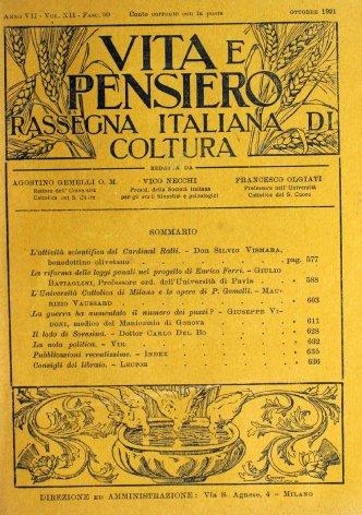 VITA E PENSIERO - 1921 - 10