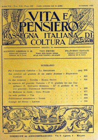 VITA E PENSIERO - 1921 - 11