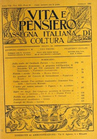 VITA E PENSIERO - 1921 - 2