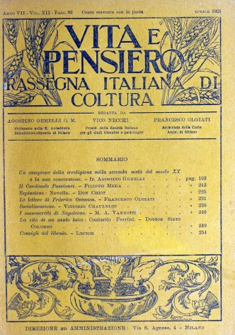 VITA E PENSIERO - 1921 - 4