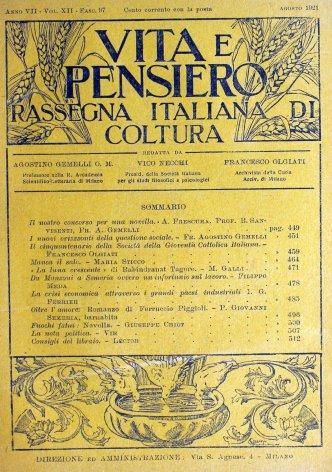 VITA E PENSIERO - 1921 - 8
