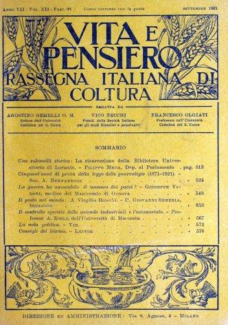 VITA E PENSIERO - 1921 - 9