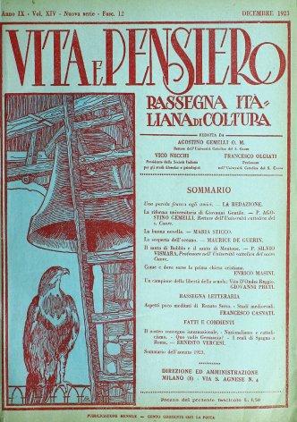 VITA E PENSIERO - 1923 - 12