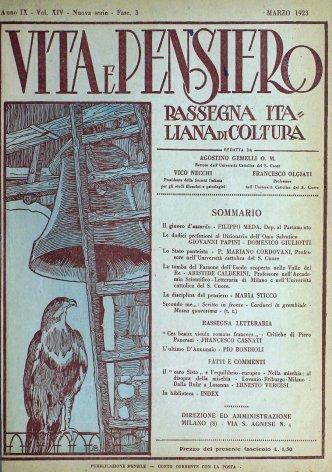 VITA E PENSIERO - 1923 - 3