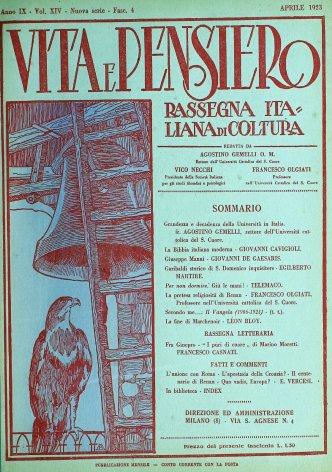 VITA E PENSIERO - 1923 - 4