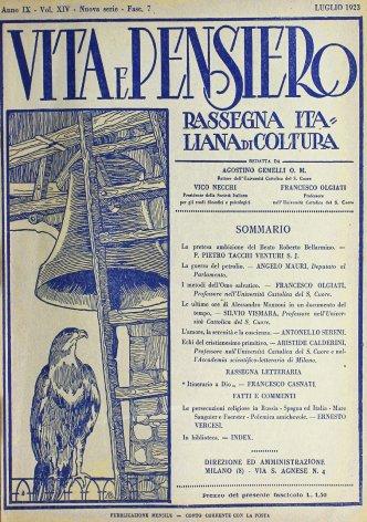 VITA E PENSIERO - 1923 - 7