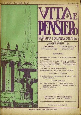 VITA E PENSIERO - 1924 - 9
