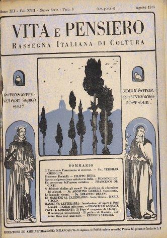 VITA E PENSIERO - 1926 - 8