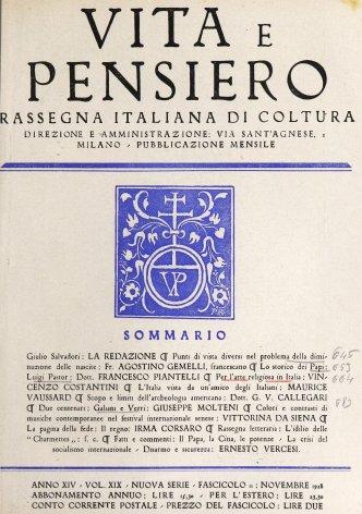 VITA E PENSIERO - 1928 - 11