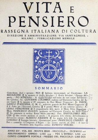 VITA E PENSIERO - 1928 - 12
