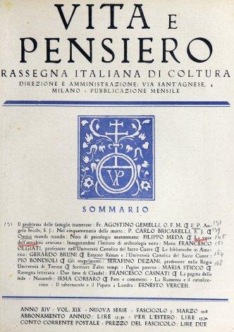VITA E PENSIERO - 1928 - 3