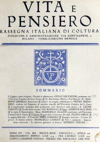 VITA E PENSIERO - 1928 - 4