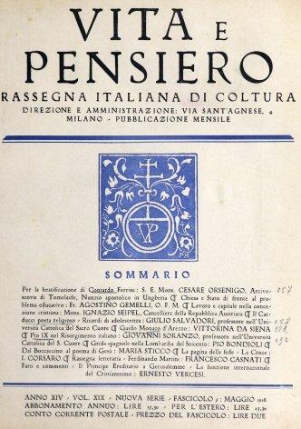 VITA E PENSIERO - 1928 - 5