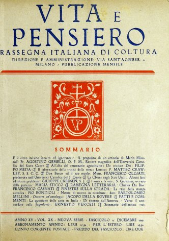 VITA E PENSIERO - 1929 - 12