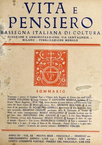 VITA E PENSIERO - 1929 - 2