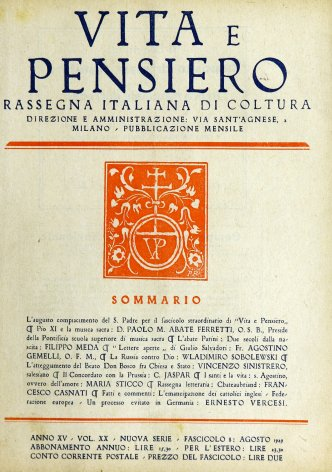 VITA E PENSIERO - 1929 - 8