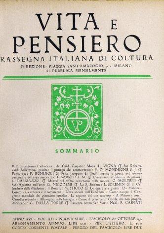 VITA E PENSIERO - 1930 - 10