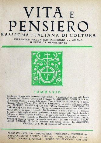 VITA E PENSIERO - 1930 - 12