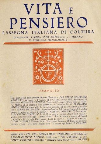 VITA E PENSIERO - 1931 - 5