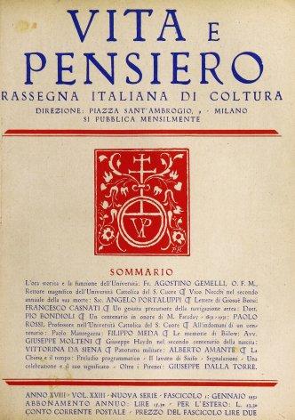 VITA E PENSIERO - 1932 - 1
