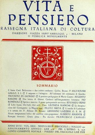 VITA E PENSIERO - 1932 - 5