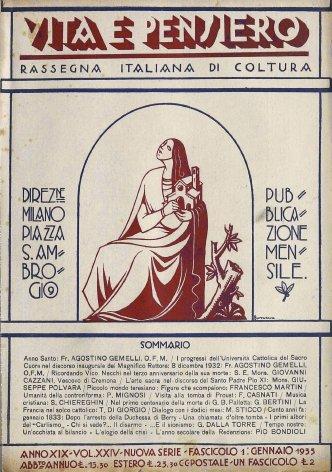 VITA E PENSIERO - 1933 - 1