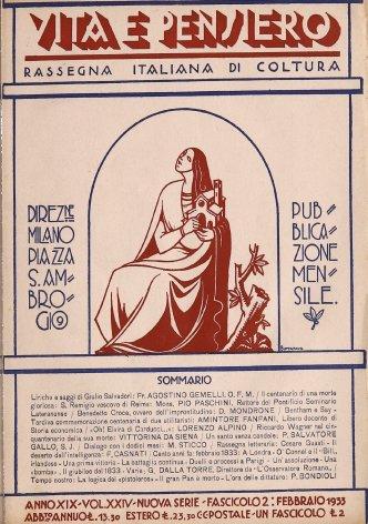 VITA E PENSIERO - 1933 - 2