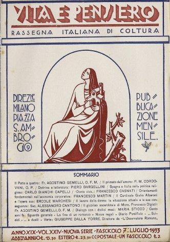 VITA E PENSIERO - 1933 - 7
