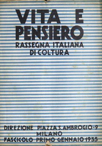 VITA E PENSIERO - 1935 - 1