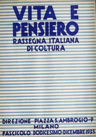 VITA E PENSIERO - 1935 - 12