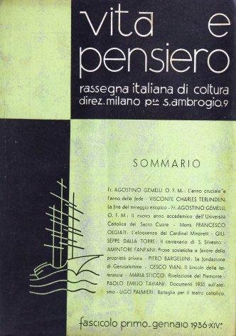 VITA E PENSIERO - 1936 - 1