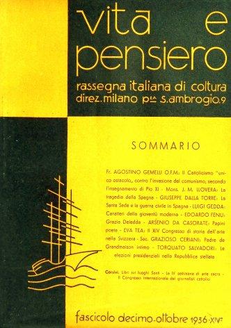 VITA E PENSIERO - 1936 - 10