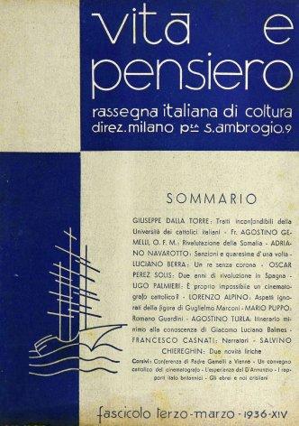 VITA E PENSIERO - 1936 - 3
