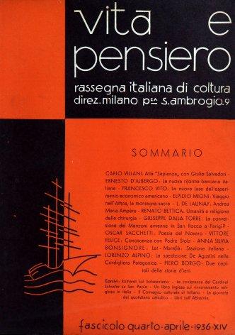 VITA E PENSIERO - 1936 - 4