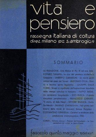 VITA E PENSIERO - 1936 - 5