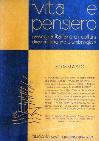 VITA E PENSIERO - 1936 - 6