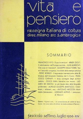 VITA E PENSIERO - 1936 - 7