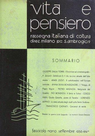 VITA E PENSIERO - 1936 - 9