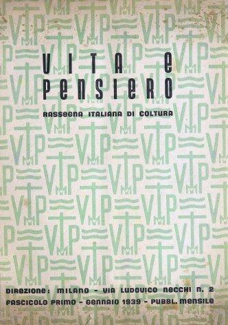 VITA E PENSIERO - 1939 - 1