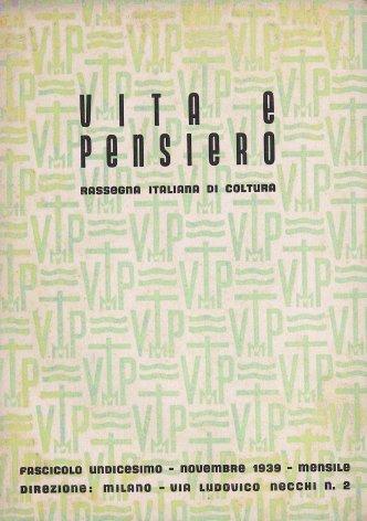 VITA E PENSIERO - 1939 - 11