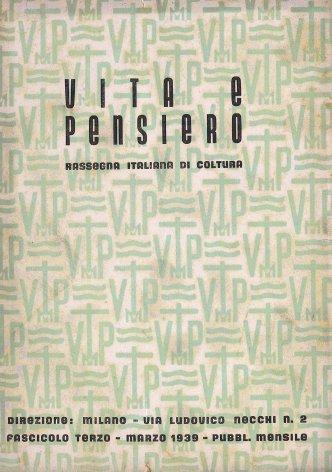 VITA E PENSIERO - 1939 - 3