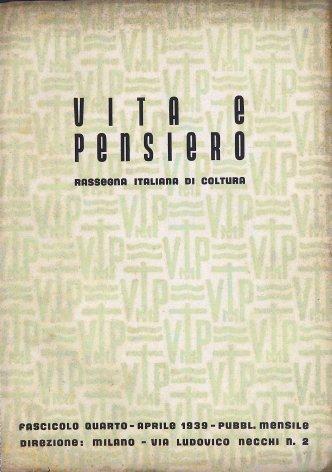 VITA E PENSIERO - 1939 - 4