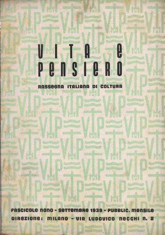 VITA E PENSIERO - 1939 - 9