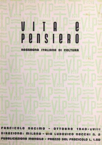 VITA E PENSIERO - 1940 - 10