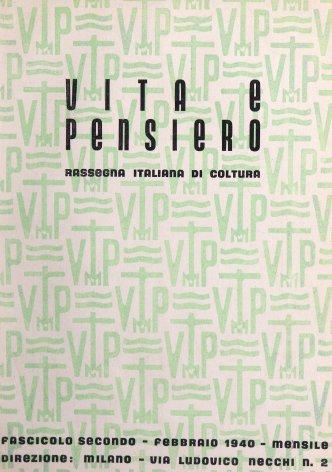 VITA E PENSIERO - 1940 - 2