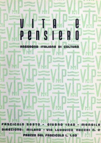 VITA E PENSIERO - 1940 - 6