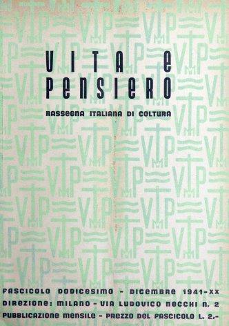 VITA E PENSIERO - 1941 - 12